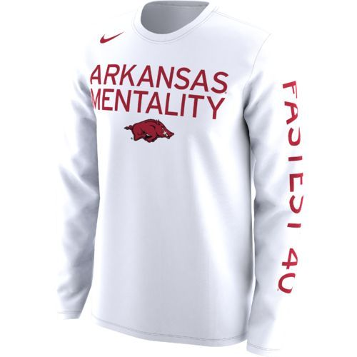 aacef7f2 Nike Men's University of Arkansas Basketball Legend Mentality Bench T-shirt