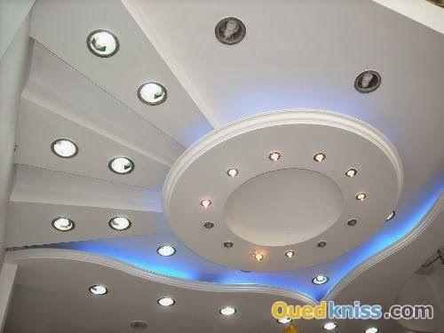 Décoration plâtre moderne avec spot lumineux | samir | Pinterest ...