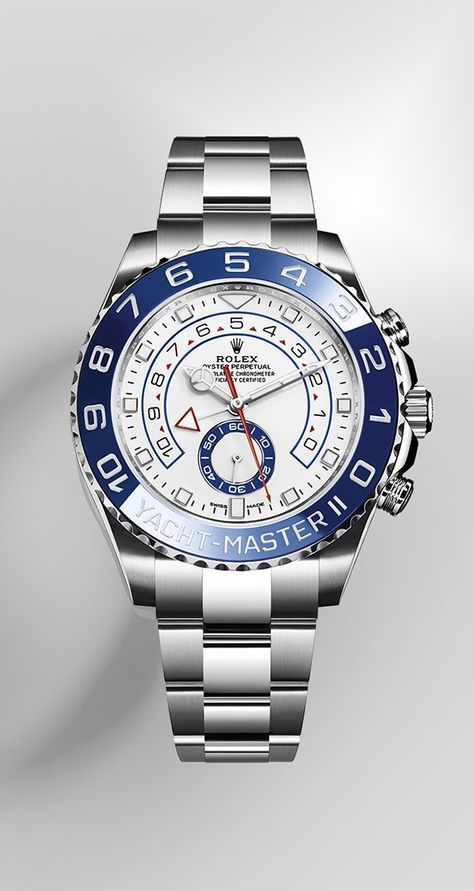 Rolex is introducing the new Yacht-Master II, its unique regatta chronograph. It is equipped with a new dial and new hands that are characteristic of Rolex Professional models, enhancing legibility and sharpening its aesthetic appeal.