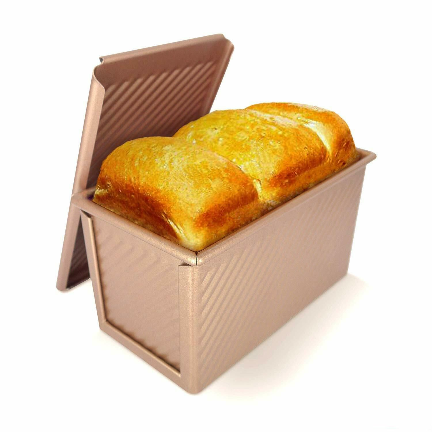 Kaychef Pullman Loaf Pan With Lid For Baking Bread Reinforced
