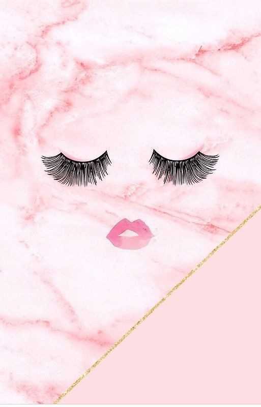 Cute Wallpapers Drawings Rose Gold Eyelashes Girly Mascara Marble Pink Wallpaper Phone