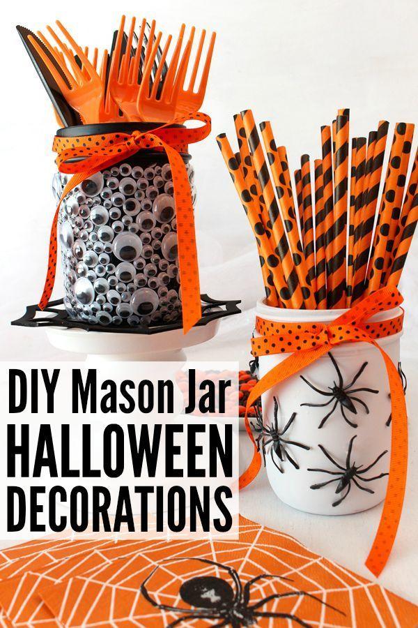 DIY Mason Jar Halloween Decorations Pinterest Easy halloween - fun and easy halloween decorations