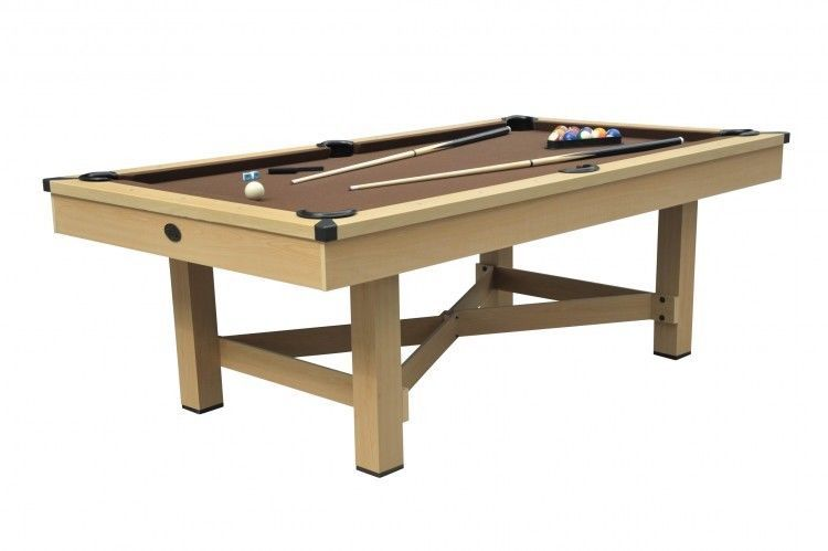 Billiard Table 7ft Includes Two 57 Cues Triangle Chalk 16