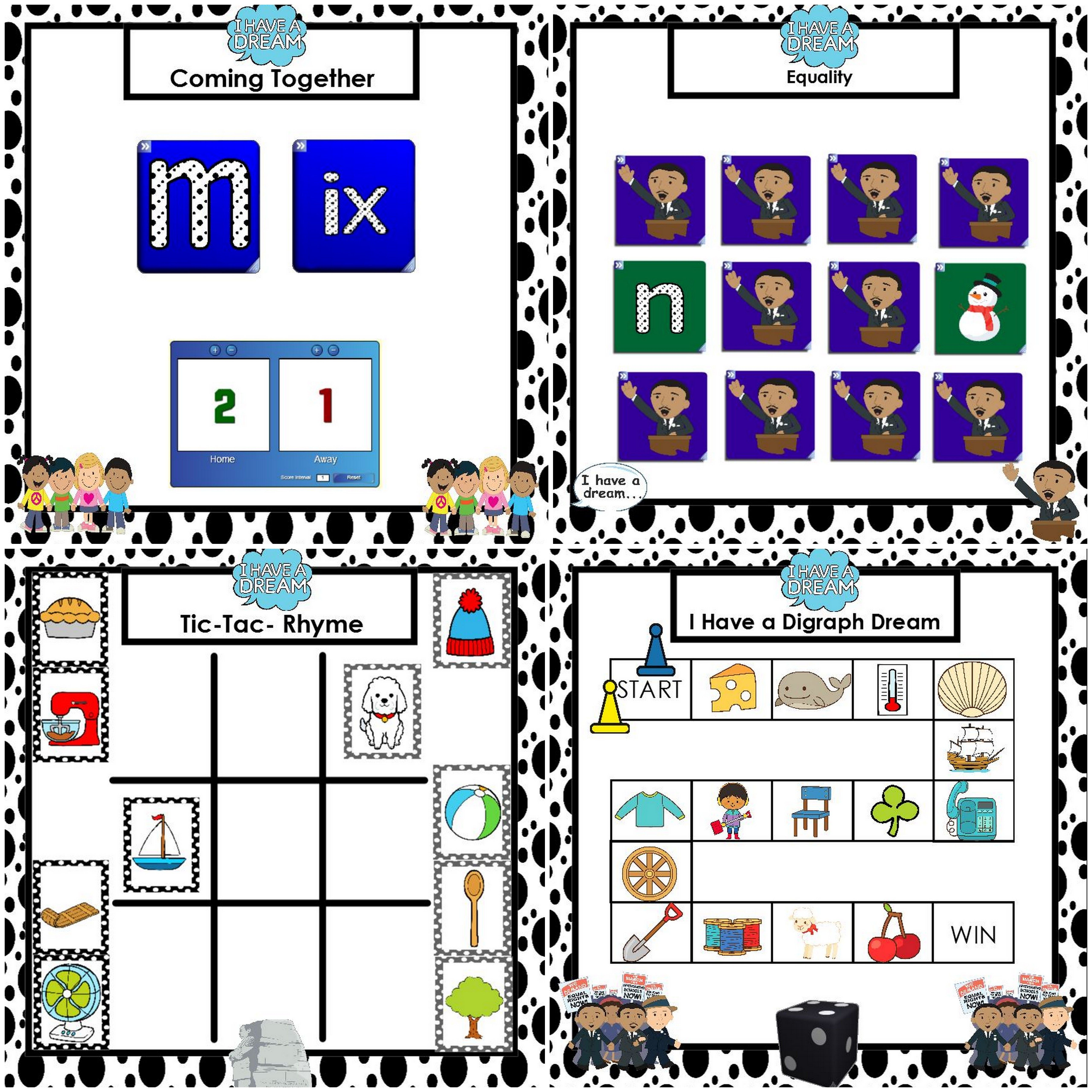 Smartboard Phonics Games Martin Luther King Jr Edition