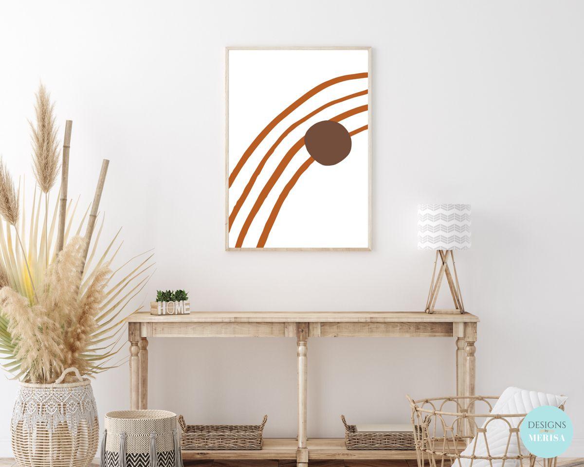 Modern Abstract Drawn Arch Digital Print Boho Home Decor