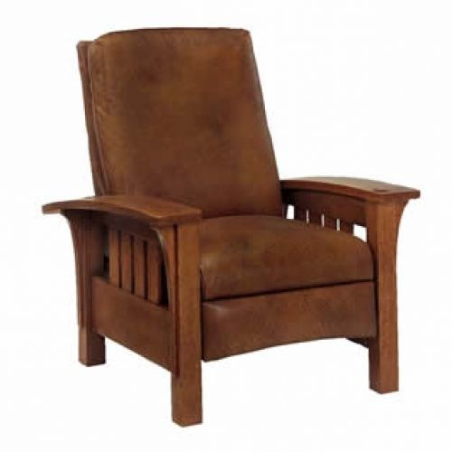 Enjoyable Stickley Mission Straight Back Bow Arm Morris Recliner Caraccident5 Cool Chair Designs And Ideas Caraccident5Info