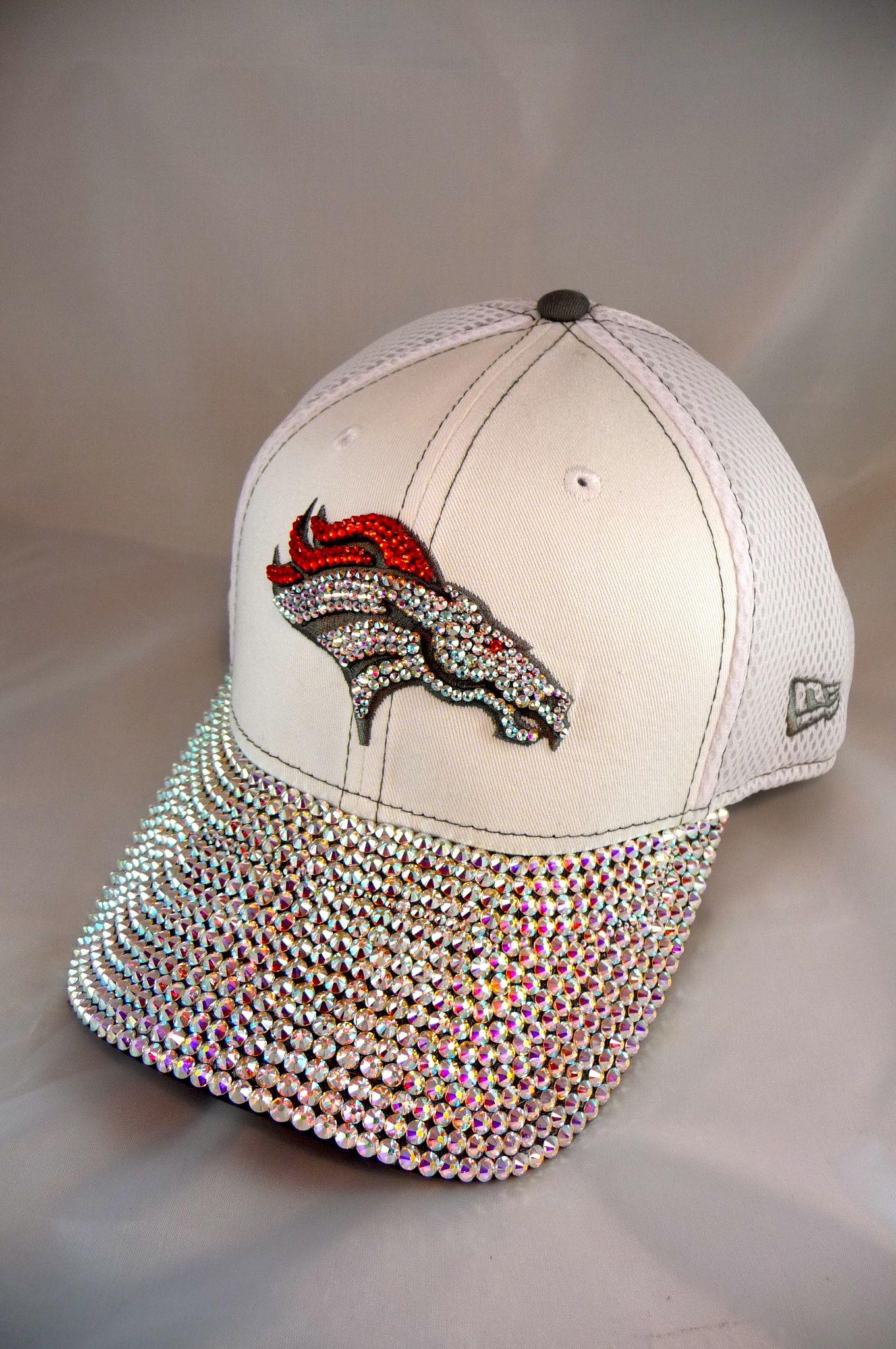 9a2e25de00 Denver Broncos Women s Bling Cap. Over 700 Swarovski Crystals!  www.customteambling.com