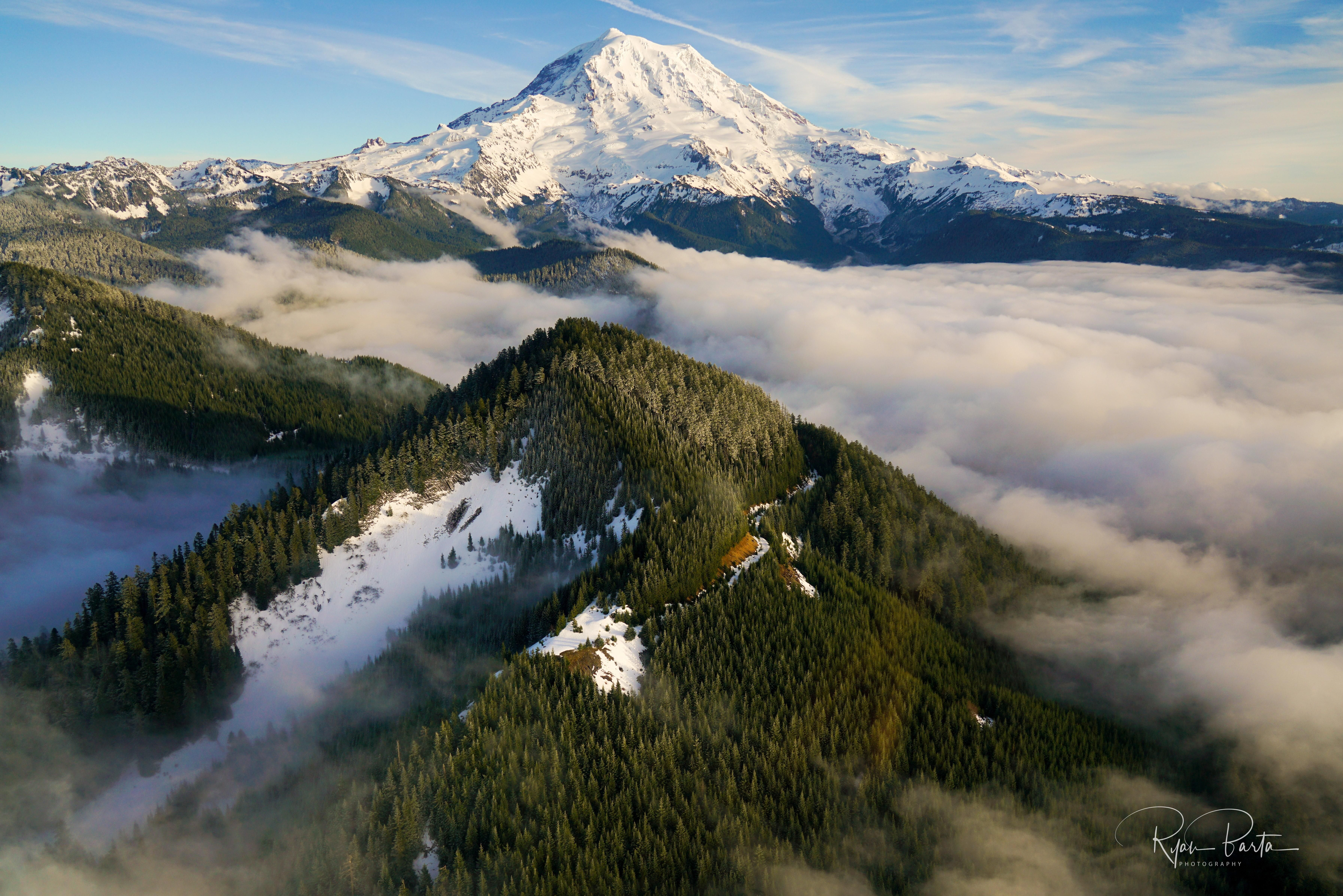 Mt Rainier u is more prominent than K Photo taken from an