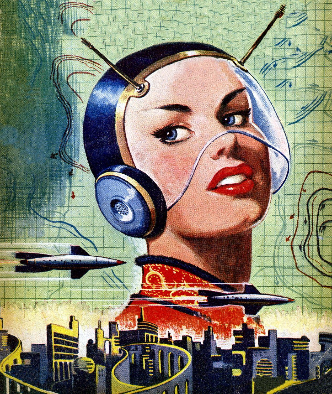 Vintage Sci Fi Illustrations Retro Science Fiction: Diggin' The Helmet For Costume