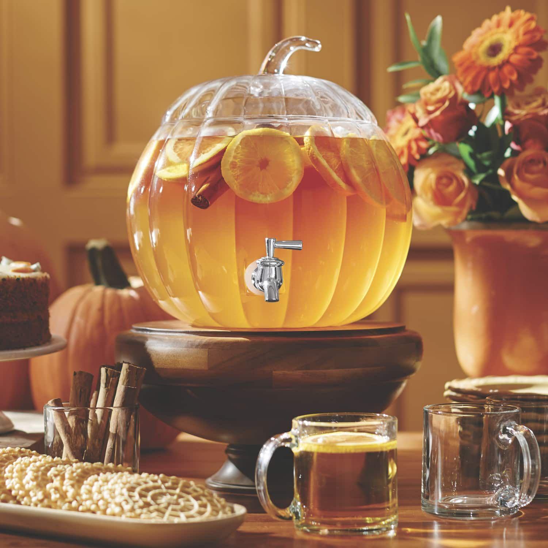 2-gallon glass pumpkin beverage dispenser | country door | fall