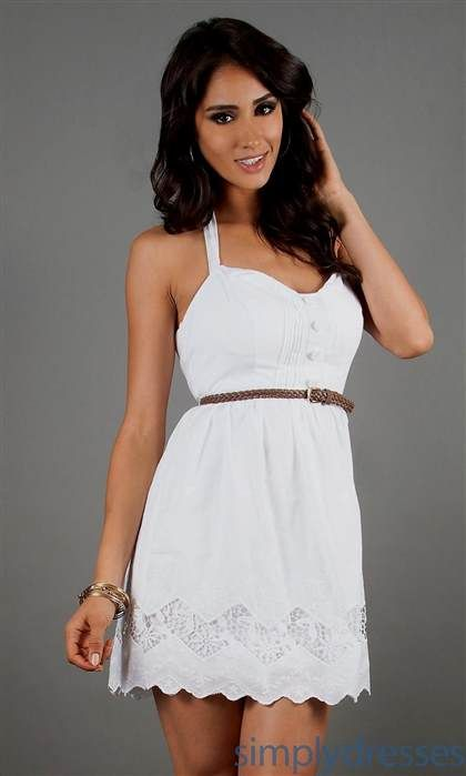 f61243b552f Nice casual white dresses for juniors 2018-2019 Check more at http