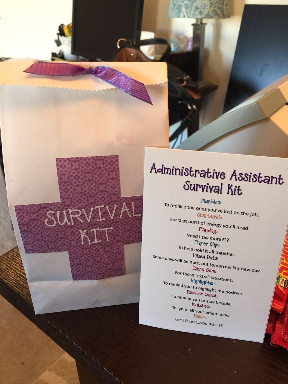 Administrative assistant survival kit survival kit