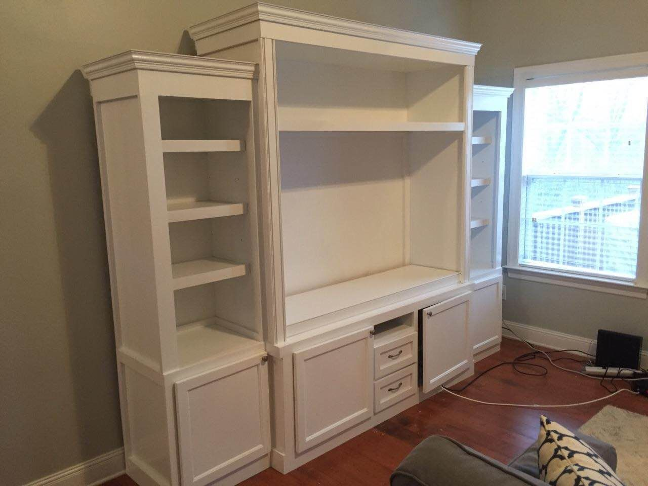 Custom Solid Wood Entertainment Center | Furniture By Brad | Nashville, TN  | Www.
