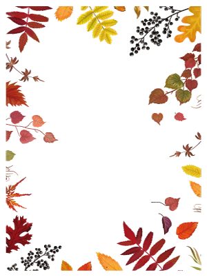 Autumn Leaves Page Border Colorful Page Borders In High Quality Pdf Files This And More At Www Free Printable In 2020 Fall Borders Page Borders Free Leaf Printables