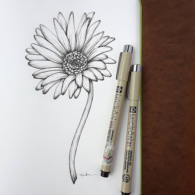 Finished Up A Gerbera Daisy Tattoo Commission For A Lovely Daisy Tattoo Daisy Tattoo Designs Gerbera Daisy Tattoo