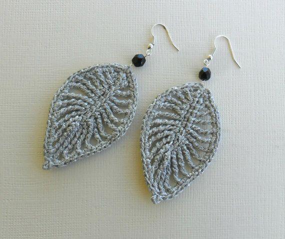 nuevo producto 66253 caf7a crochet pendientes pendientes de plata pendientes de la ...
