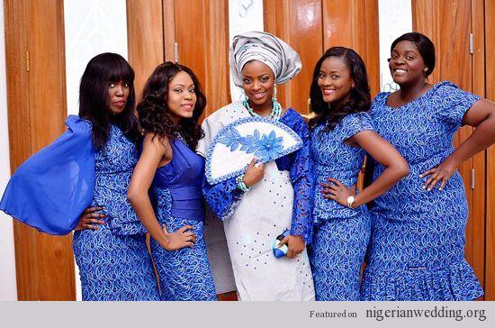 Nigerian wedding ankara ore-iyawo aso-ebi styles akintayotimi | ASO ...