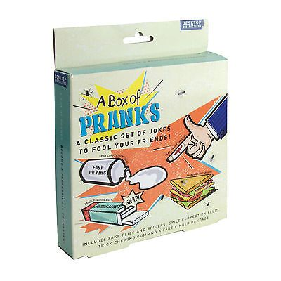 A box of #pranks novelty fun gift #practical #classic jokes set fool your friends,  View more on the LINK: http://www.zeppy.io/product/gb/2/361153761167/
