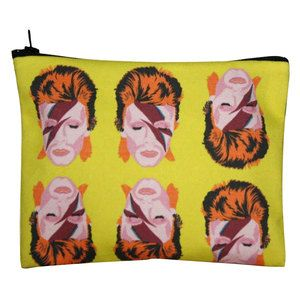 Bowie Zipper Pouch now featured on Fab.