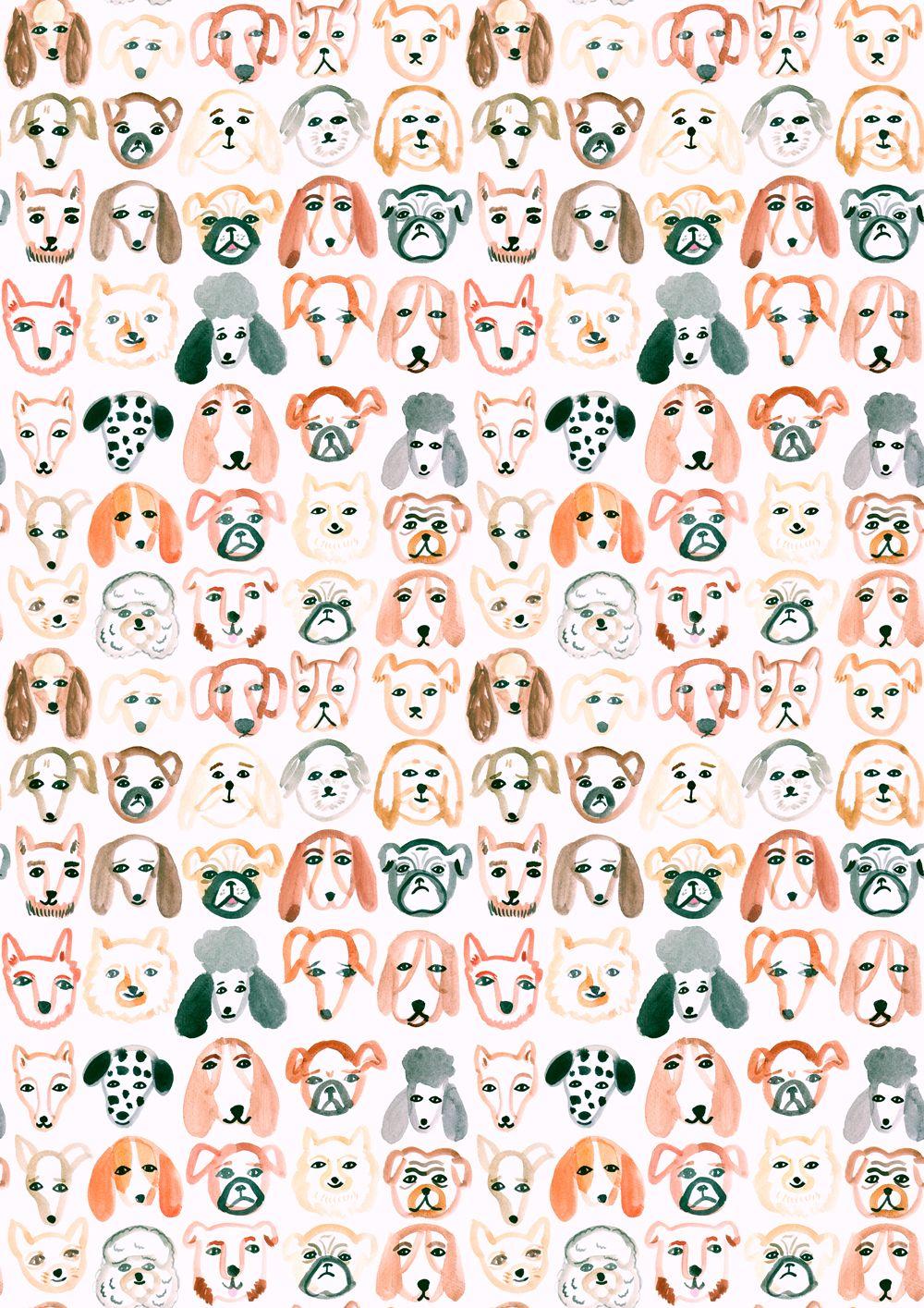 Scrapbook paper dogs - Emily Nelson Illustration