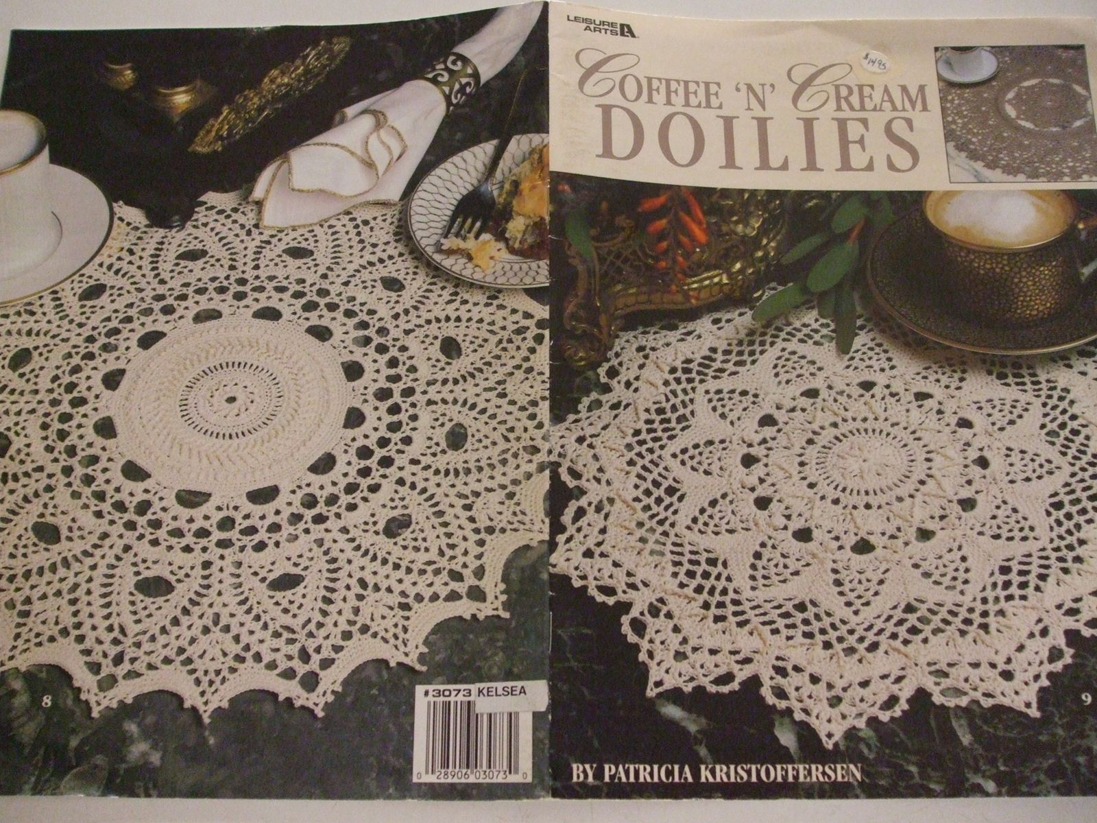 "Patricia Kristoffersen /""Coffee /'n/' Cream Doilies/"" Crochet Patterns-Leisure Arts"