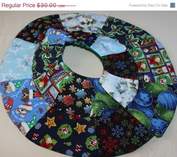 Black Friday Cyber Monday Tree Skirt Mini Quilted Christmas