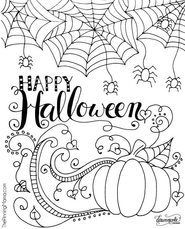 printable coloriage happy halloween decorating ideas. Black Bedroom Furniture Sets. Home Design Ideas