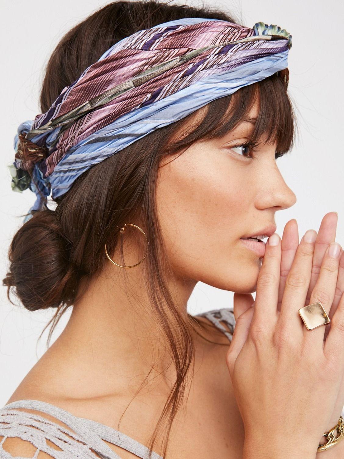 Vintage Silk Short Tie Skinny Scarf Scarf Hairstyles Skinny Scarves Belle Hairstyle