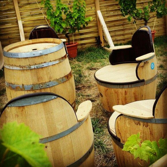 Salon de jardin en tonneaux | salon tonneau | Pinterest | Tonneaux ...