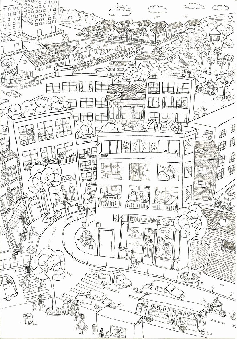 Architecture Coloring Sheets Awesome City Coloring Pages High