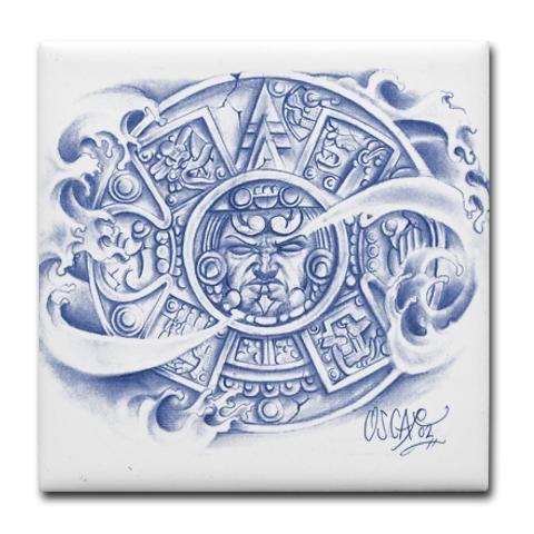 two aztec calendar tattoo - Google Search | savioso ... Aztec Calendar Sleeve Tattoos