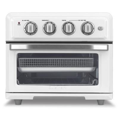 Cuisinart 1800 Watt 6 Slice White Toaster Oven And Air Fryer White Stainless In 2020 White Toaster Toaster Oven