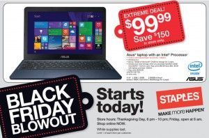 Super Low Price On Laptop At Staples Starts At 6 P M On Thanksgiving Black Friday Black Friday Deals Black Friday Countdown