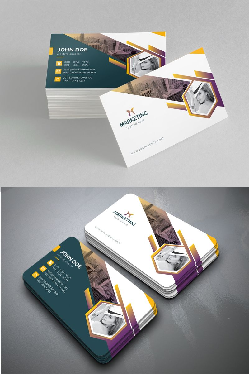 Circle Marketing Personal Business Card Corporate Identity Template Business Cards Corporate Identity Circle Business Cards Personal Business Cards