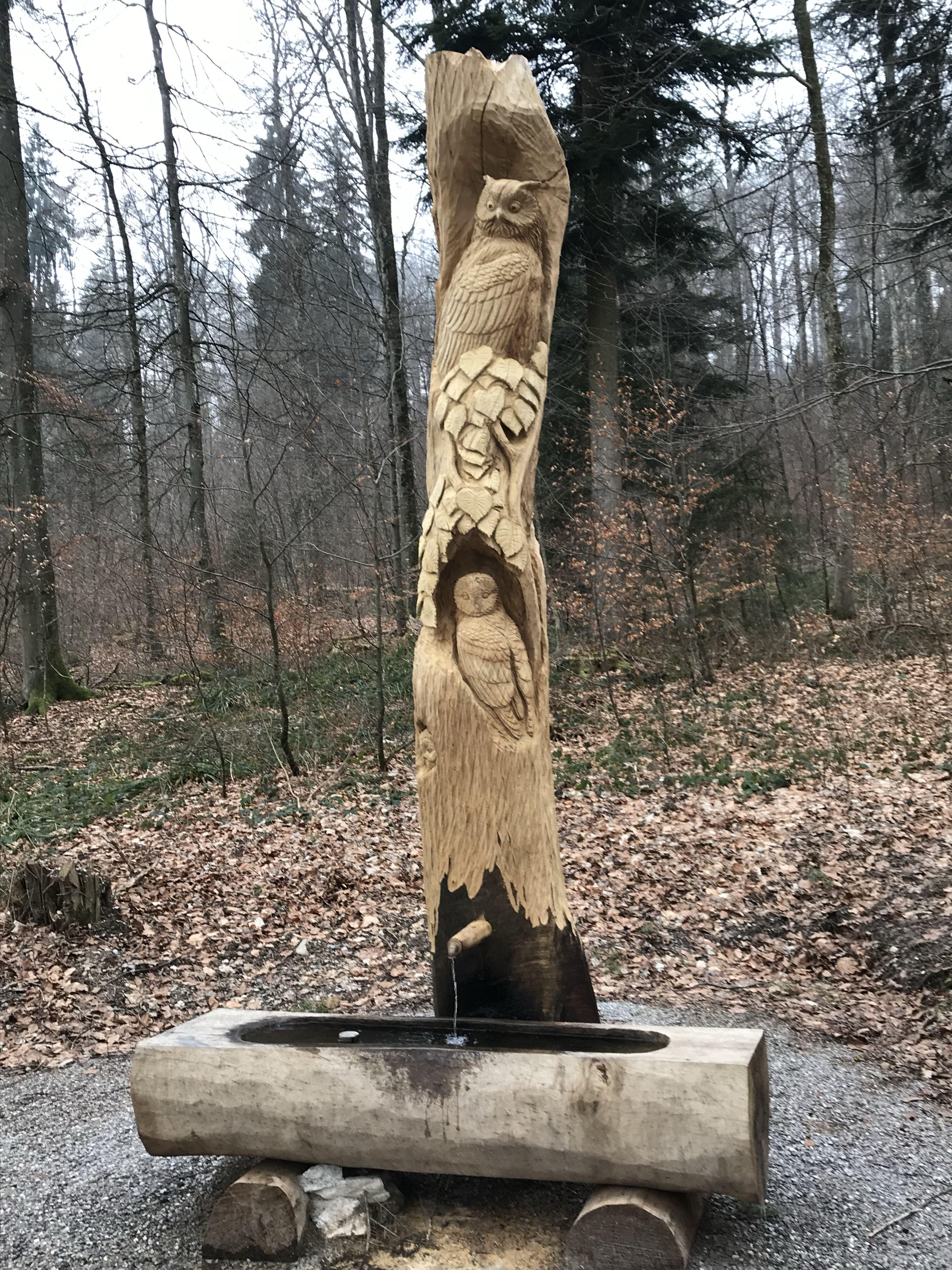 Der Brunnen Liegt In Der Nahe Des Aussichtsturm Zh Witikon Und Des