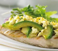 grilled chicken with avocado and feta
