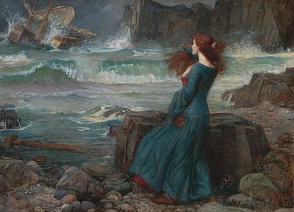 John William Waterhouse ~ Miranda ~ 1916 ~ John William Waterhouse (English, 1849-1917) was an English painter known for working in the Pre-Raphaelite style. He worked several decades after the breakup of the Pre-Raphaelite Brotherhood.