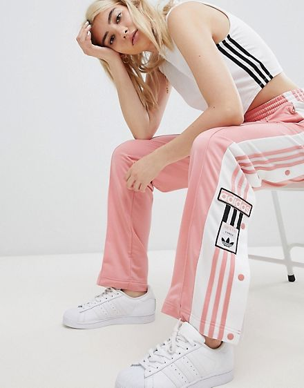 high quality free delivery good texture Adidas Original Three Stripe Track Pant With Vintage Logo In ...