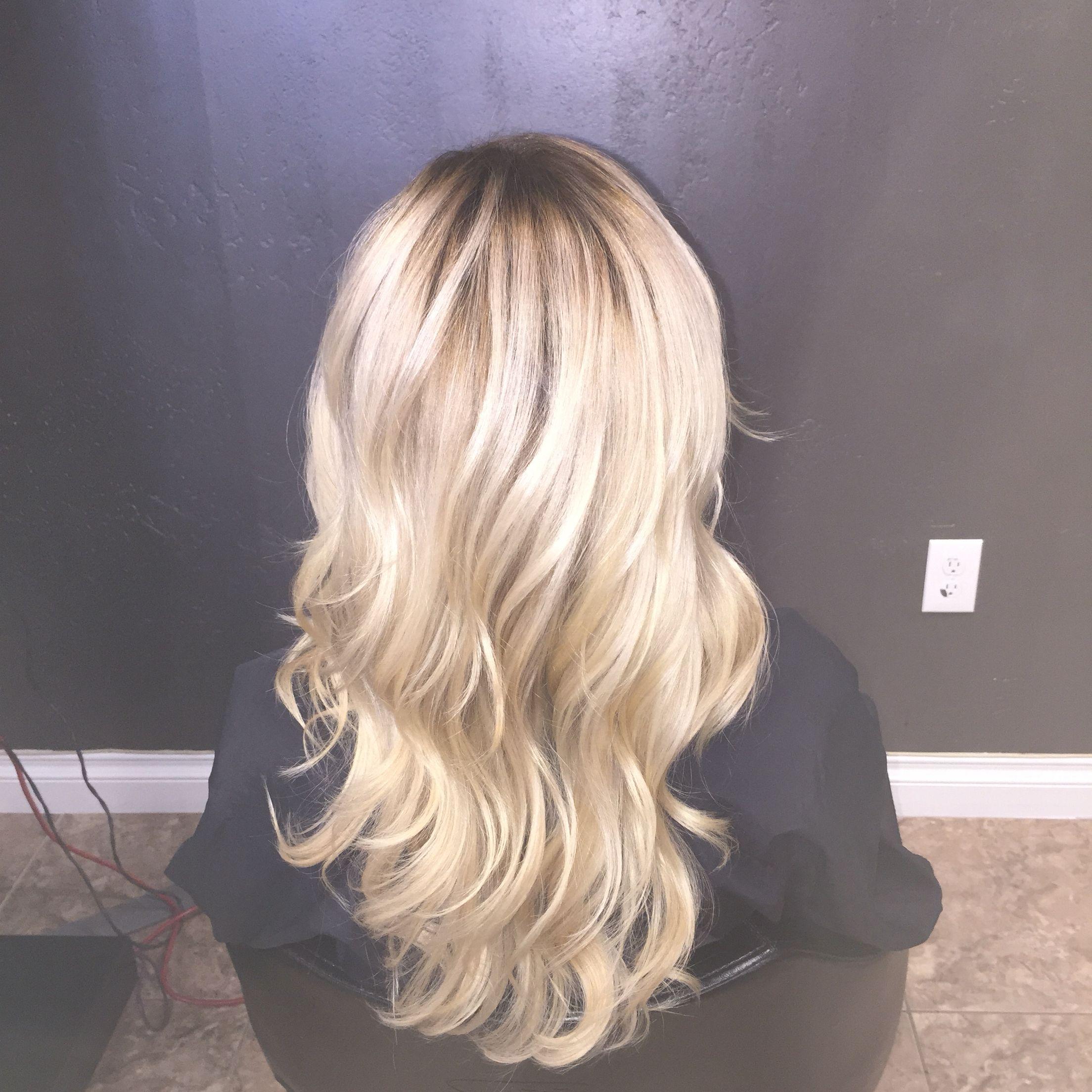 Icy Blonde With A Shadow Root Dark Skin Blonde Hair Blonde Hair