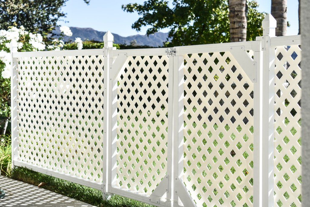 24 X 3 Modular Fence Enclosure Panels W Lattice Lattice Vinyl Lattice Panels Fence Panels