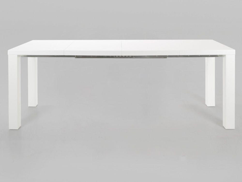Frances White High Gloss Extending Dining Table  Dining Tables Simple Extended Dining Room Tables 2018