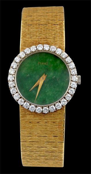 a55a5ff6587 PIAGET Jade Face and Diamond Watch.