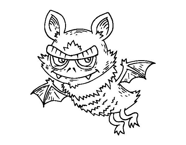 Dibujo de Murciélago de Halloween para Colorear | Dibujos de ...