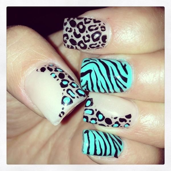 nails zebra | Things my nails love | Pinterest | Diseños de uñas ...