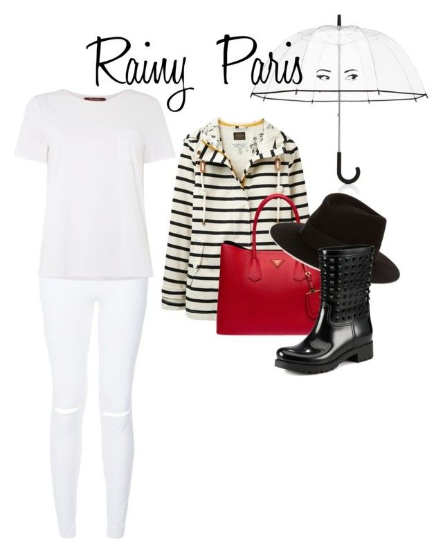 """Rainy Paris"" by blogdisilvia on Polyvore featuring Kate Spade, MaxMara, Joules, Prada, Maison Michel and Valentino"