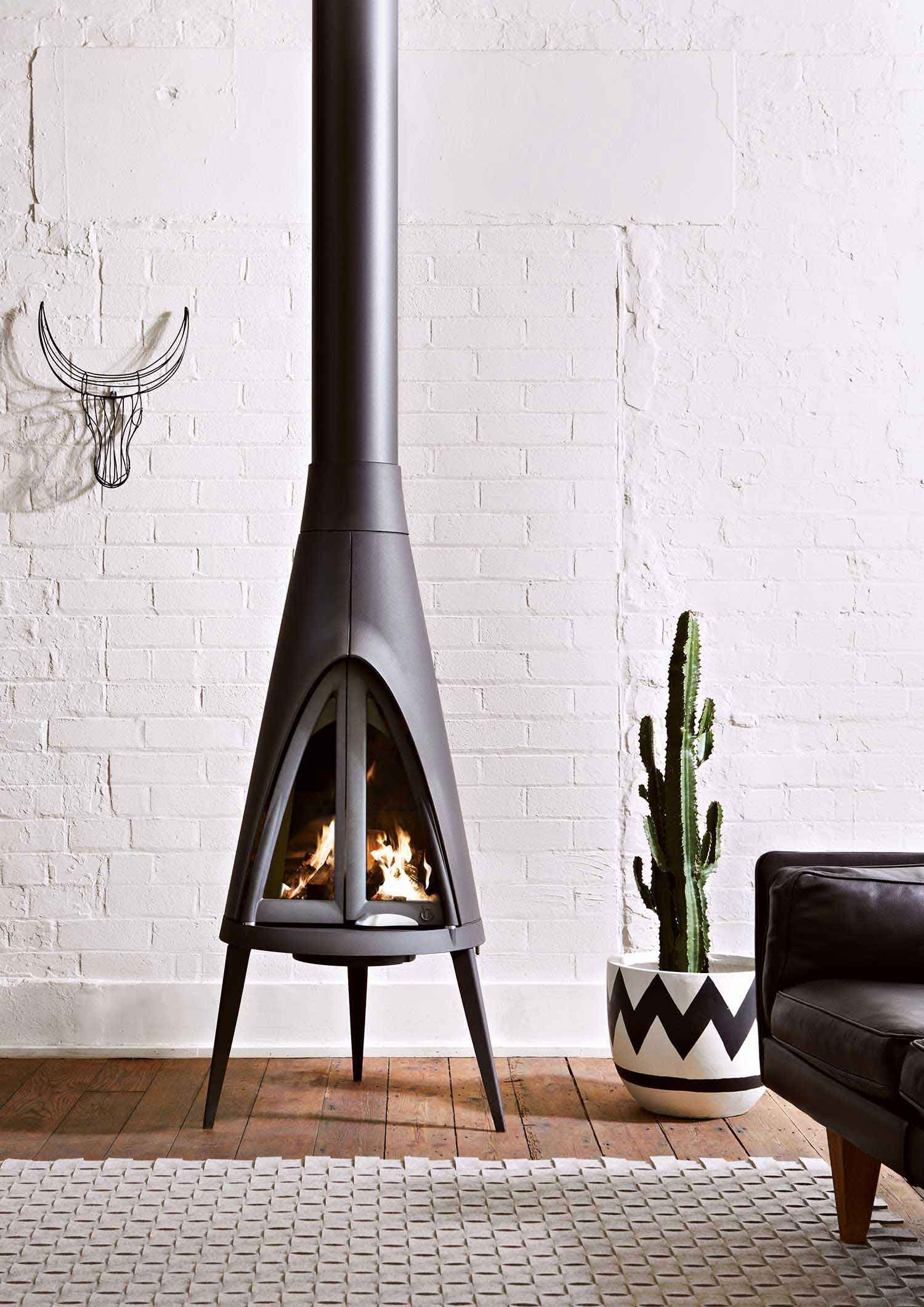 Fab Tiny Wood Burning Stove, From Oblica Catalogue, Photo By Armelle Habib |