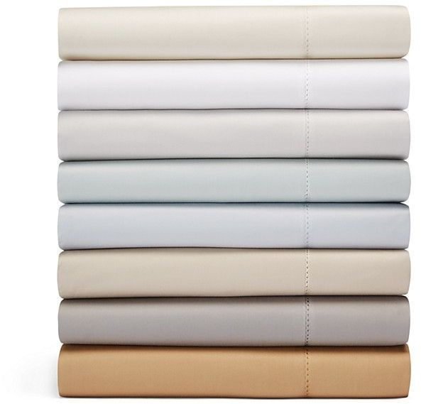 Hudson Park Collection 600TC Sateen Solid California King Fitted Sheet - 100% Exclusive