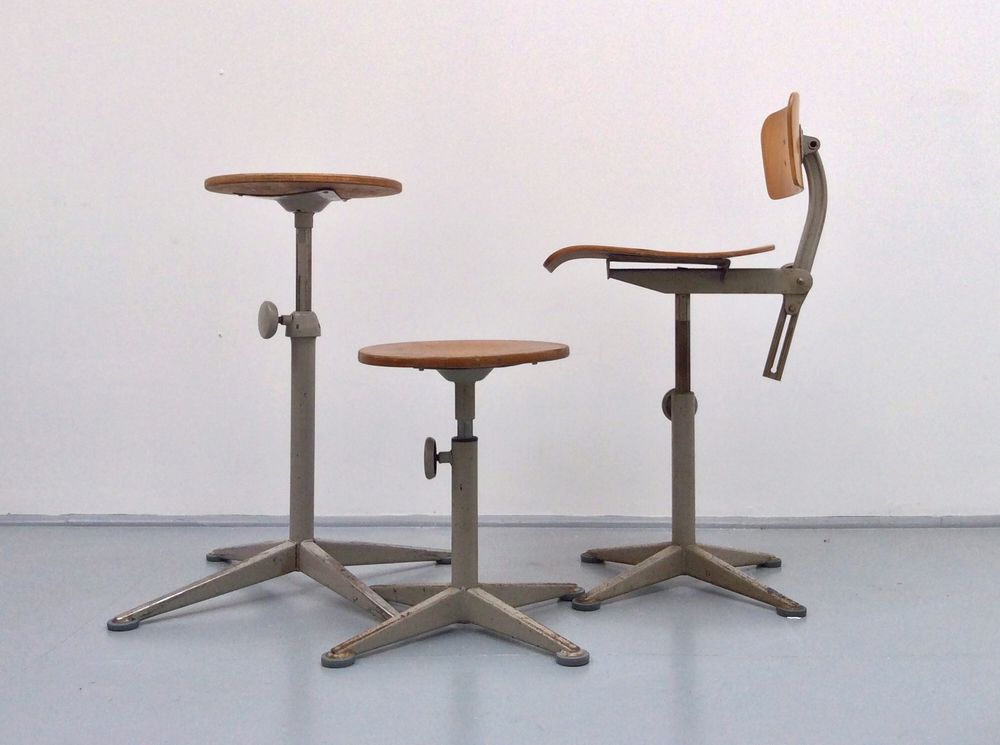 Charmant A Range Of Industrial Work Chairs And Stools By Friso Kramer For Ahrend.  These Pieces