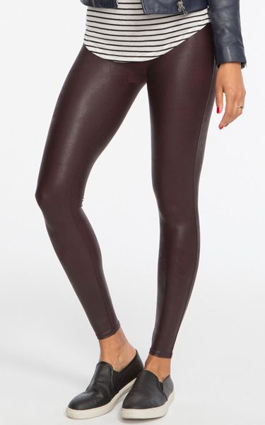 bc8c0733c11c7 Spanx Faux Leather Wine Leggings | Women's Fashion | Spanx faux ...