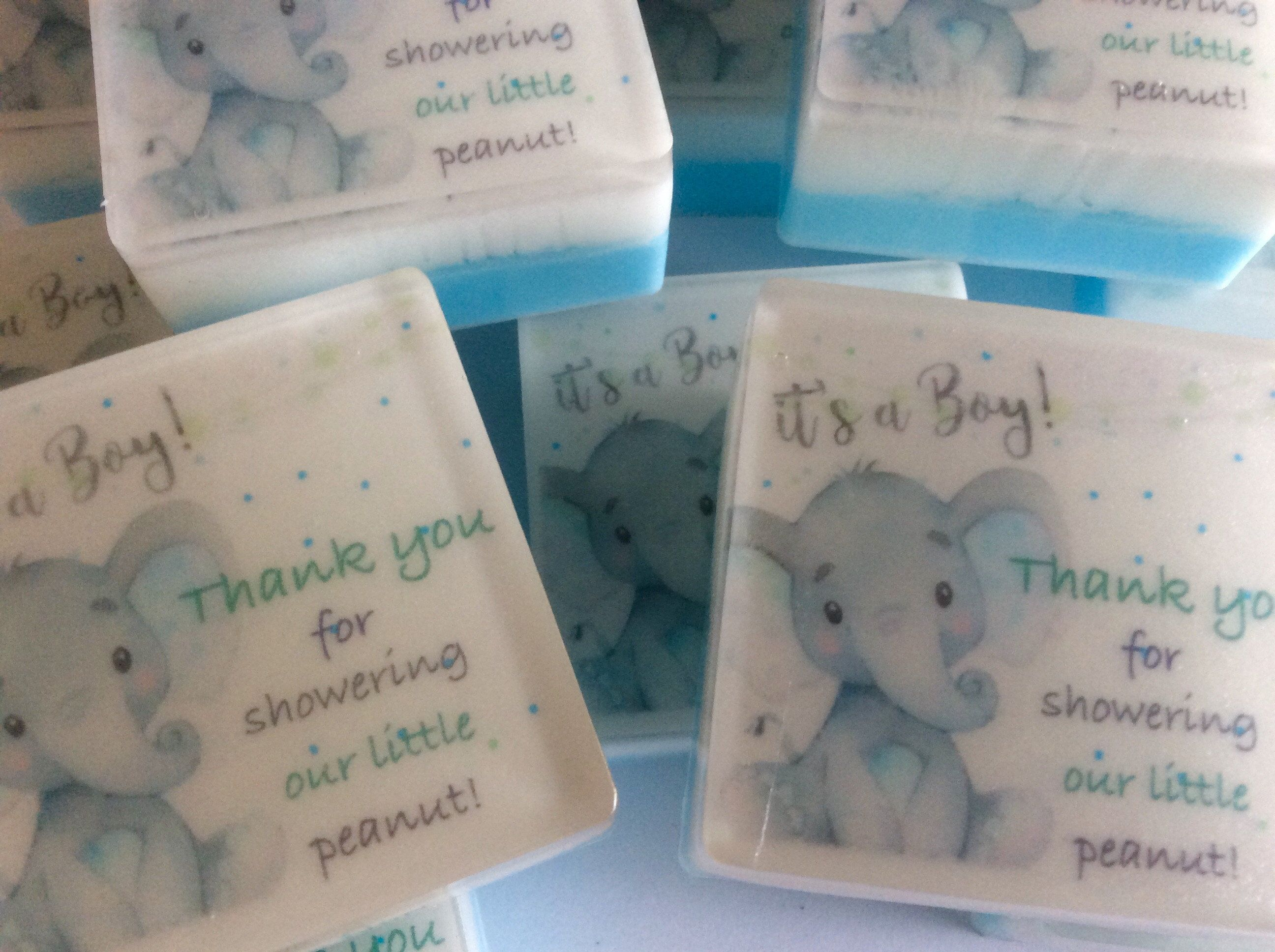 Soap Baby Shower Favors Set of 10 Boy Shower Favors Blue Baby Shower Favors